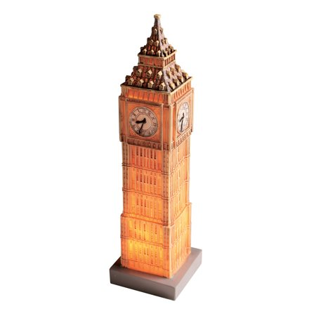 What On Earth Great Places Table Lamp - London, England Big Ben, Small Accent Light for Desk - 3