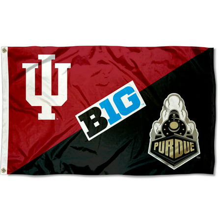 Ncaa Door Flag - NCAA Indiana vs. Purdue House Divided 3x5 Flag