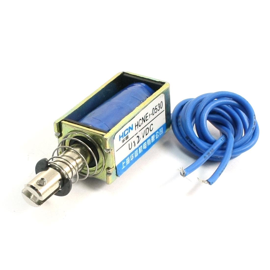5N Force 10mm StrokePull Actuator Linear Electromagnet Solenoid DC 12V