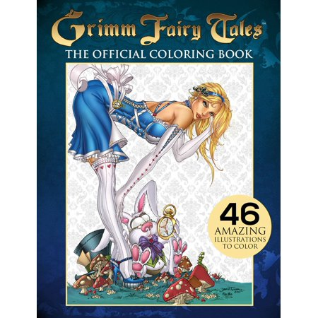 Grimm Fairy Tales Adult Coloring Book (Paperback) - Halloween Coloring Pages Printable Adults