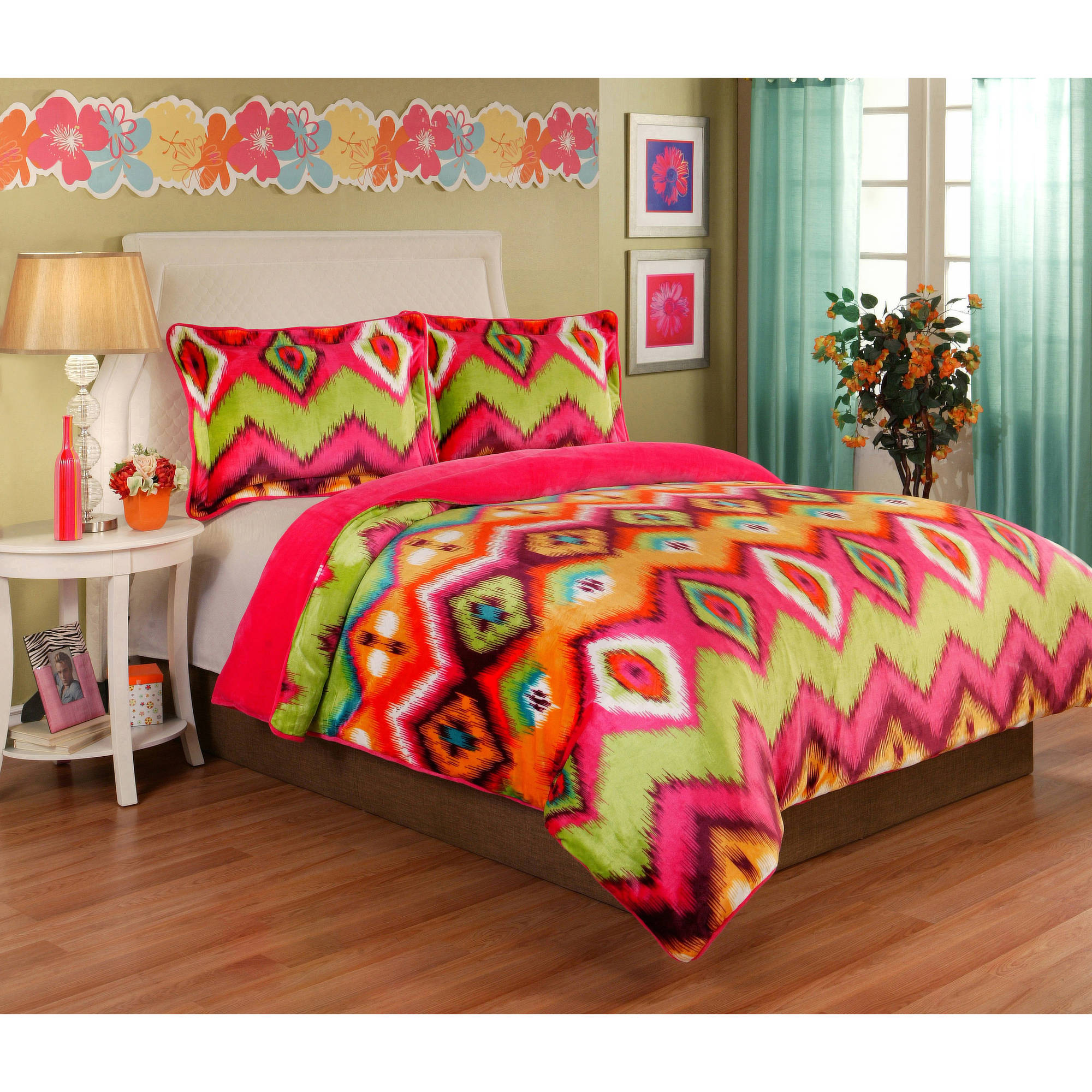 Gypsy Velvet Plush Print Bedding Comforter Mini Set by Sun Yin