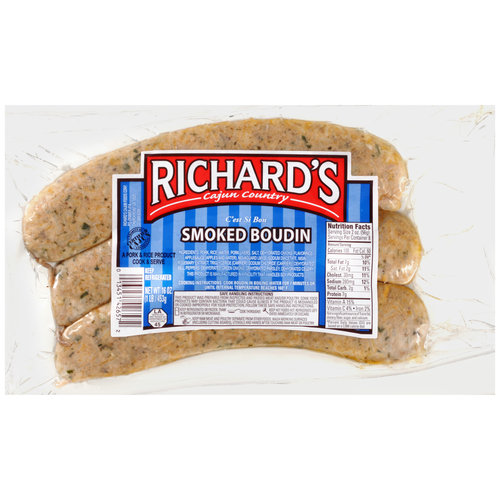 Richard's Cajun Country Smoked Boudin, 16 oz