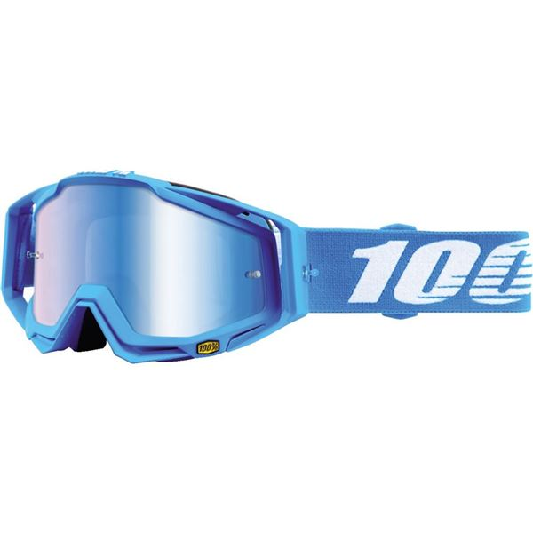 Blue/Blue Mirror 100 Percent Racecraft Monoblock Goggles