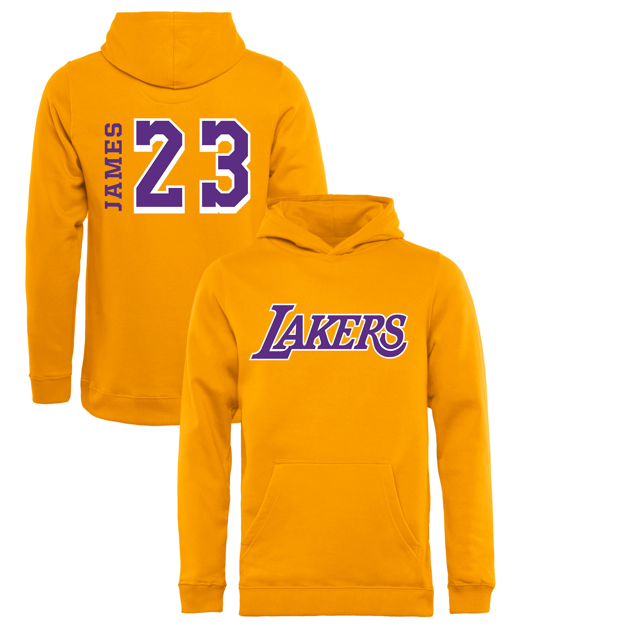 LeBron James Los Angeles Lakers Fanatics Branded Youth Sidesweep Name   Number  Pullover Hoodie - Gold - Walmart.com 17dc4af2e