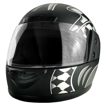 Full Face Motorcycle Helmet With Flip Up Visor Matte Black