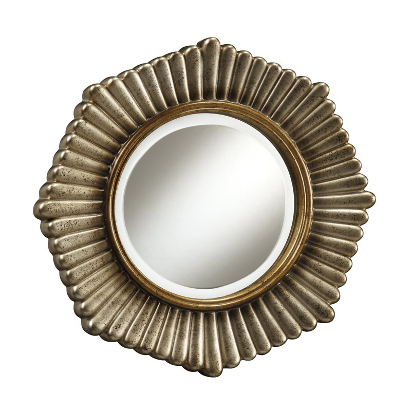 Sterling Industries Genesis 18 Inch Round Wall Mirror In
