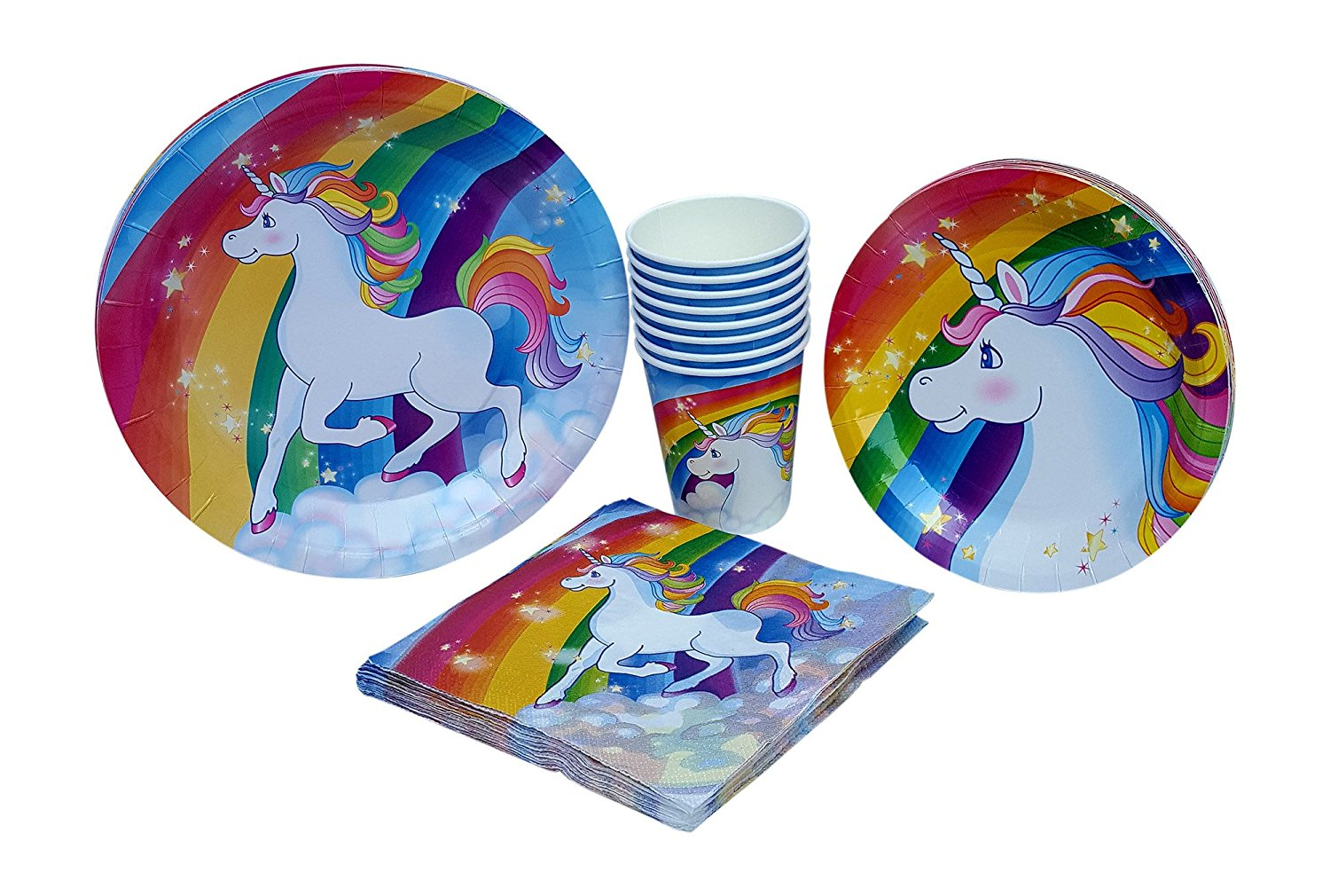 Unicorn Paper Plates Napkins u0026 Cups Birthday Party Supply Pack  sc 1 st  Walmart & Unicorn Paper Plates Napkins u0026 Cups Birthday Party Supply Pack ...