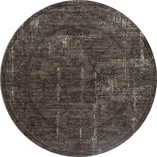 Art Carpet 27997 5 ft. London Collection Suzanna Woven Round Area Rug, Mushroom Brown - image 1 of 1
