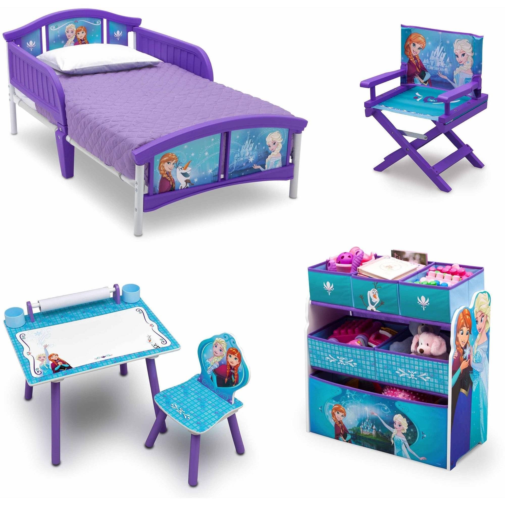 frozen toddler bedroom set disney frozen room in a box with bonus chair walmart 15284