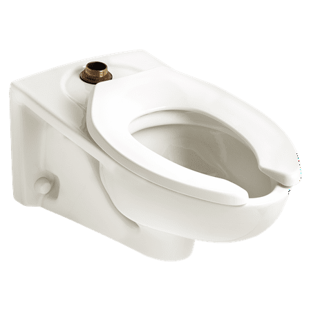 American Standard Afwall FloWise EverClean 1.1 GPF Elongated Toilet Bowl Only with Top Spud Flushometer in White American Standard Afwall Wall