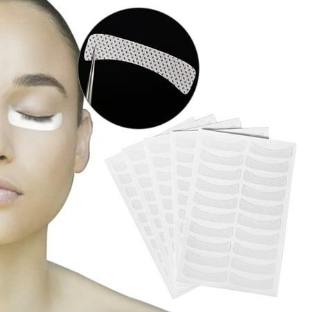 Halloween Makeup Tired Eyes (Yosoo 100Pcs Makeup Eye Sticker Soft Non-woven Eyelash Extension Tinting Tape False Eyelash Pad, Under Eye Pad, Eyelash Extension)