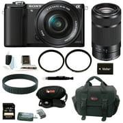 Sony Alpha ILCE-5000L/B Digital Camera w/ SELP1650 Lens 16GB SD Card - Black - Refurbished