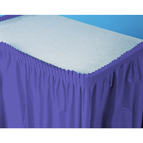 Plastic Table Skirt, New Purple