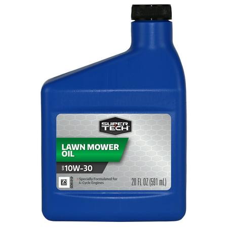 Super Tech Conventional SAE 10W-30 Lawn Mower Oil, 20 oz