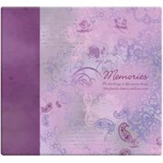 "Inspirations Post Bound Paper Scrapbook, 12"" x 12"", Memories, Purple"