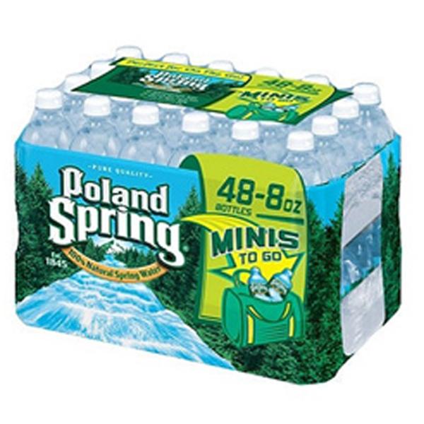 Poland Spring w-a-t-e-r 8 oz Plastic Bottles - Pack of 48