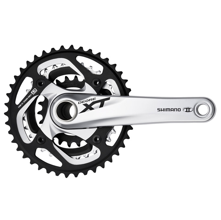 Shimano XT FC-M780 10-Speed Mountain Crankset 42/32/24T 175mm Silver