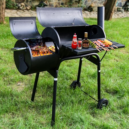 BBQ Grill Charcoal Barbecue Outdoor Pit Patio Backyard Home Meat Cooker Smoker Process Paint Not Flake Black ()