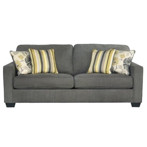Ashley Safia Fabric Queen Size Sleeper Sofa in Slate - Walmart.com