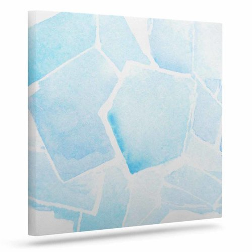 East Urban Home 'Blue Quartz' Graphic Art Print on Canvas