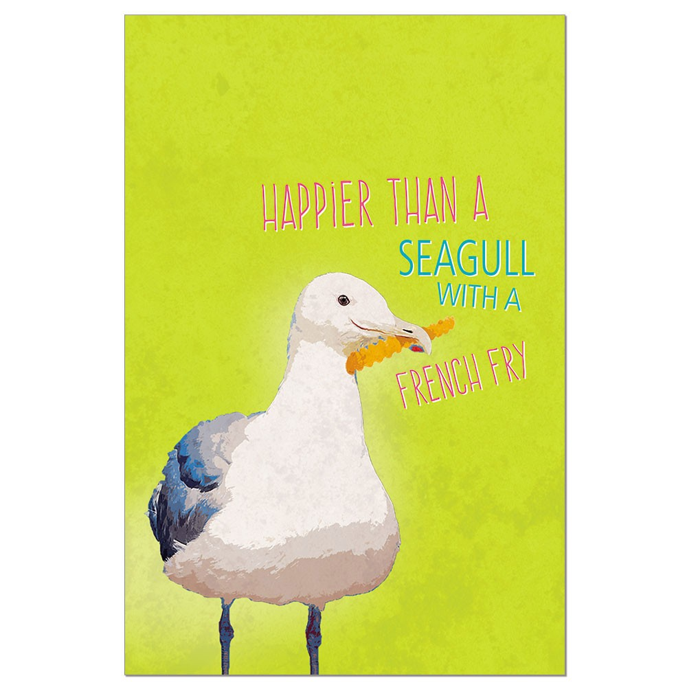 Tree-Free Greetings Seagull Frenchfry Boxed ECOnotes Blank Note Cards-FS56234