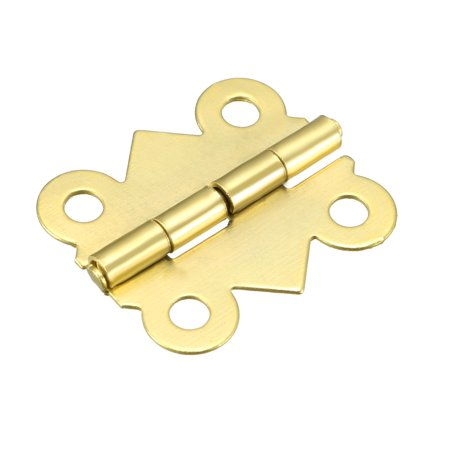 "0.79"" Golden Hinges Butterfly Shape Hinge Replacement with Screws 50pcs - image 5 of 6"
