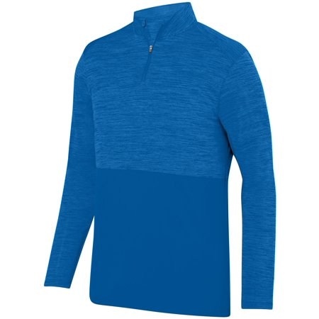 augusta 2908 shadow tonal heather 1/4 zip pullover