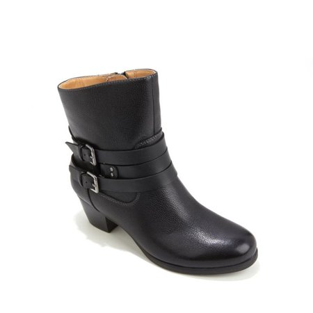 Katrina Leather Buckle Bootie 498-079