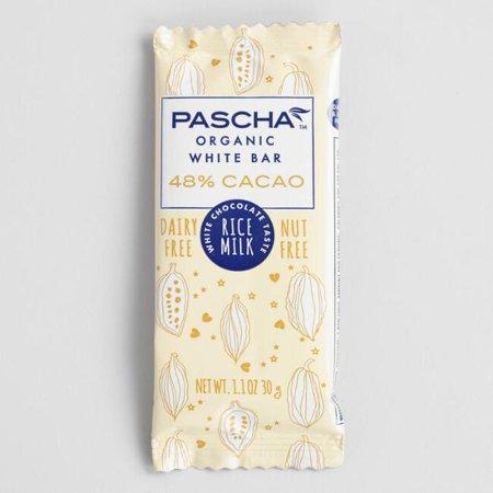 Pascha Organic Rice Milk White Mini Candy Bar 1.1 oz. (Pack of