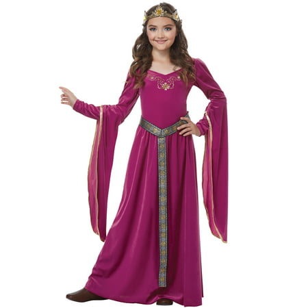 Female Medieval Costumes (Blushing Medieval Princess Child)