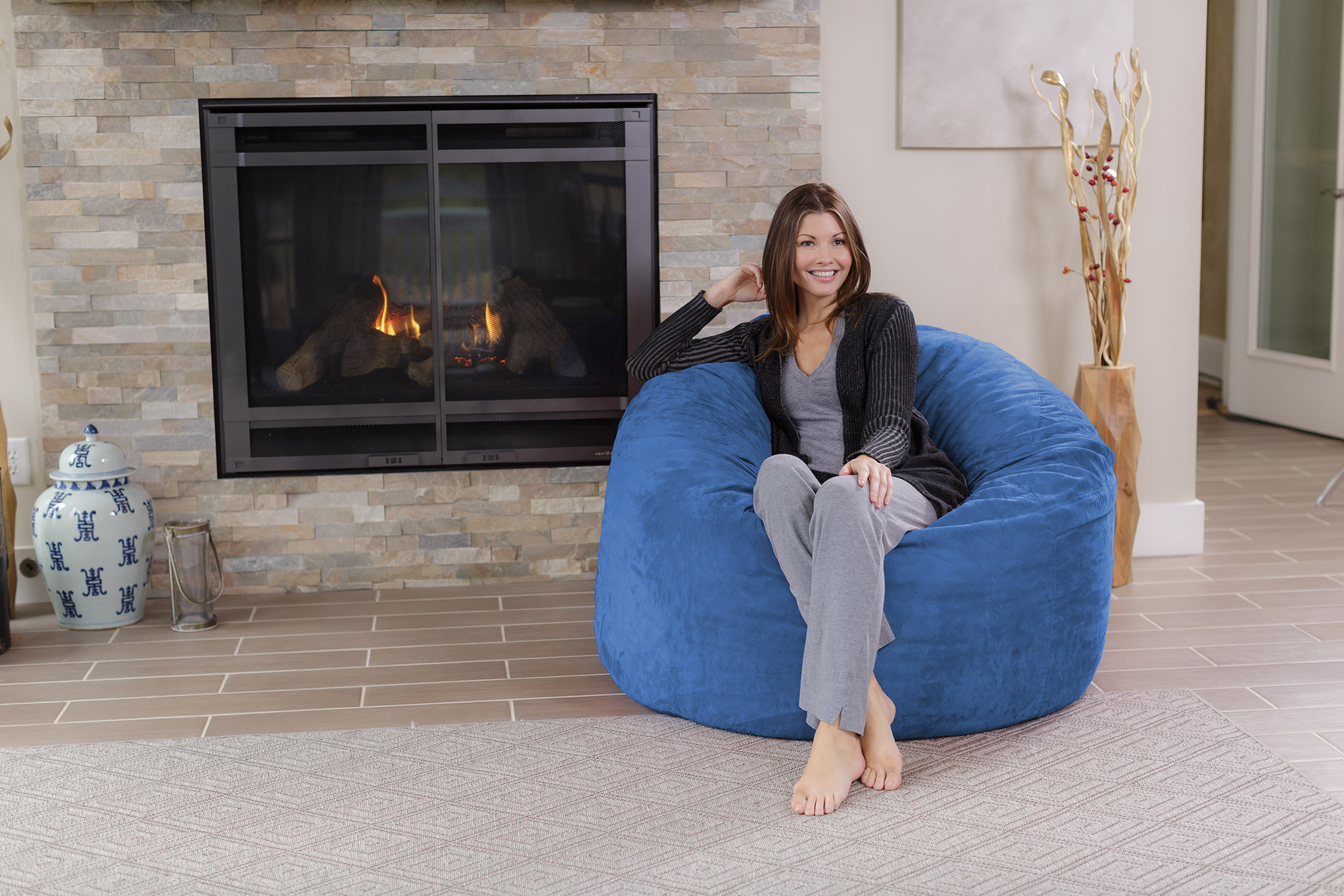 Chill Sack 4 Ft Memory Foam Bean Bag Chair Multiple