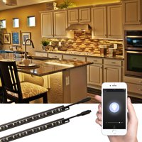 TORCHSTAR 4 Set Smart Dimmable Under Cabinet Lighting for Closet, 3000K Warm White, Only Support 2.4G