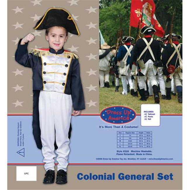 Historical Colonial General Dress up Costume Set - Toddler T4