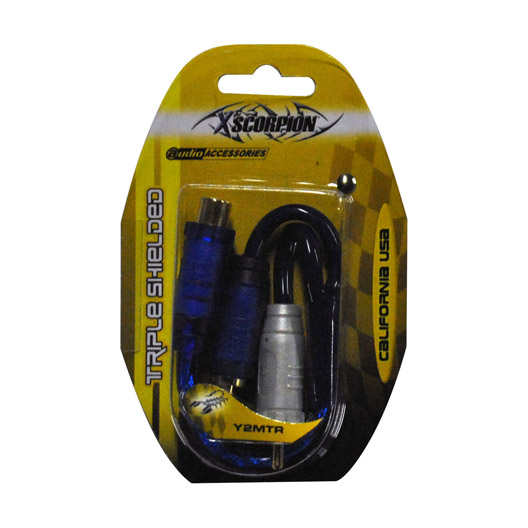 Xscorpion Y2MTR Rca Splitter Xscorpion 1f-2m Blue;triple Shielded