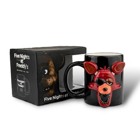 Ceramic Relief - Five Nights At Freddy Foxy Relief Coffee Mug | Foxy 3D Ceramic Mug | 20 Ounces