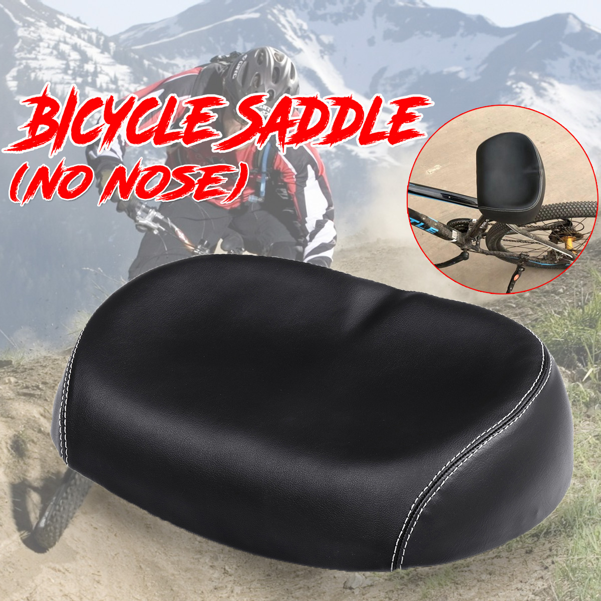 Accessories Sports Cycling Seat Pad Noseless Bicycle Saddle Big Ass Wide Large