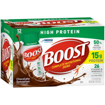 Boost High Protein Rich Chocolate Complete Nutritional Drink  8 Oz  12 Ct