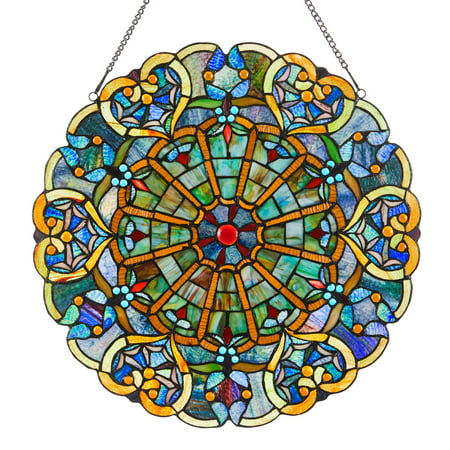 River of Goods Stained Glass Webbed Heart Window Panel