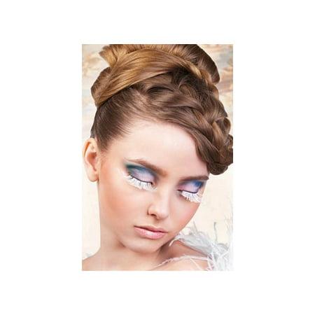 Baci Lingerie White Feather Eyelashes 599