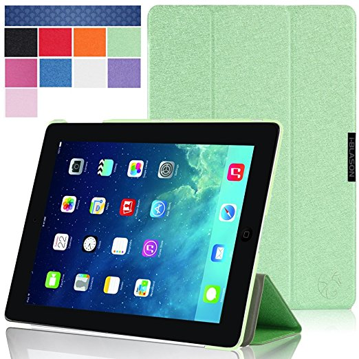 i-Blason - i-Folio Slim Hard Shell Stand Case for Apple iPad Air 2 - Green