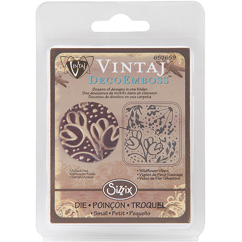 Sizzix Vintaj Deco Embossing Folders, Wildflower Vines