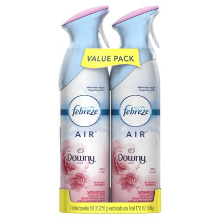 ((2 pack) Febreze AIR Effects Air Freshener with Downy April Fresh Scent (4 Count, 17.6 oz))