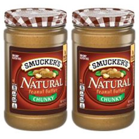 (2 Pack) Smucker's Natural Chunky Peanut Butter, 26