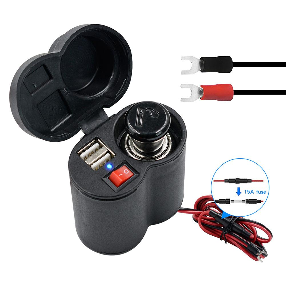 1*Multi-function Off-road Motorcycle USB Phone Charger Handlebar Switch Assembly