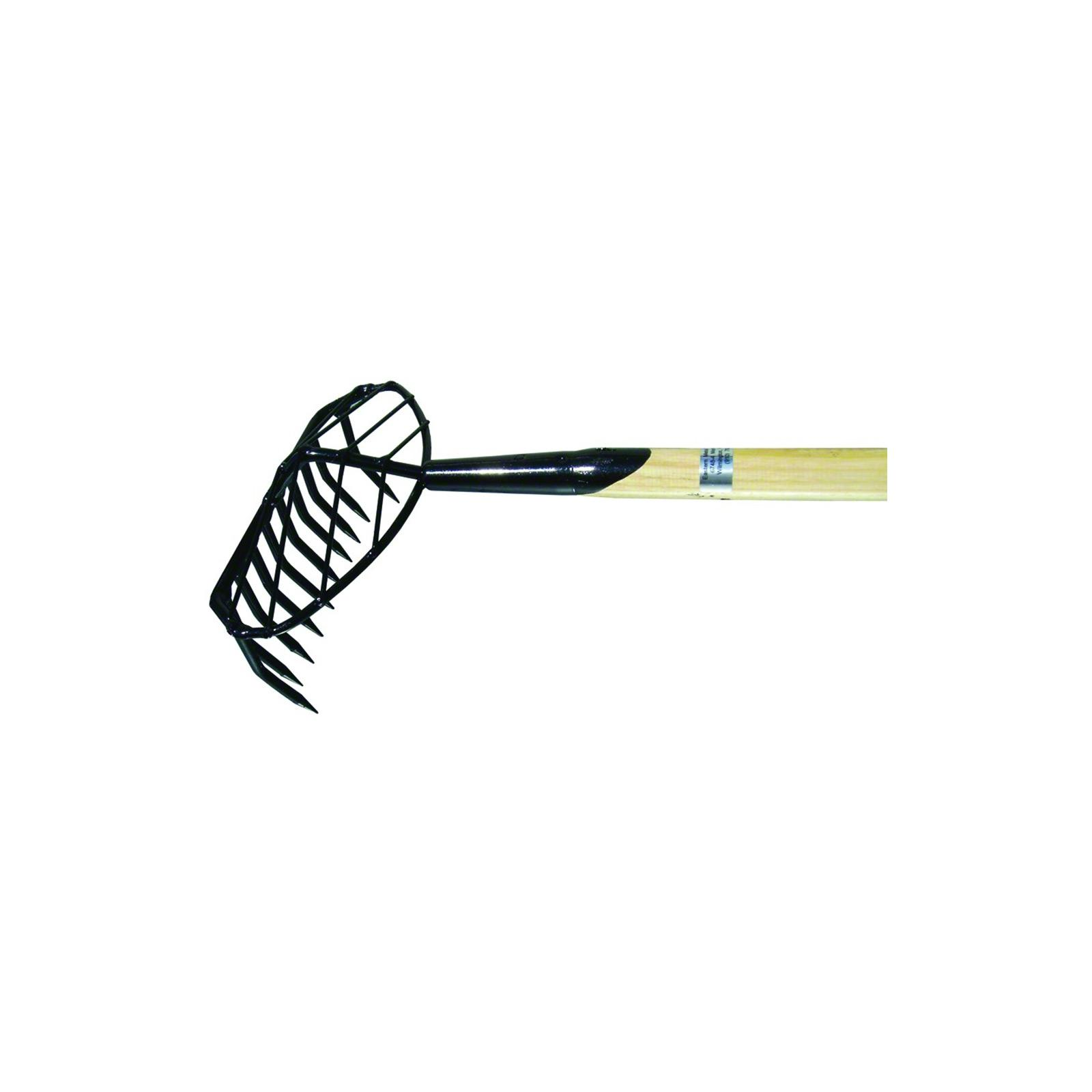 Down-East Clam Rake 5' w/Basket 10-Round Tooth, R-10TB