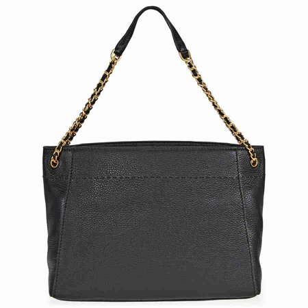 Tory Burch McGraw Ladies Medium Leather Chain-Shoulder Slouchy Tote 41780001 Faux Leather Medium Tote Bag