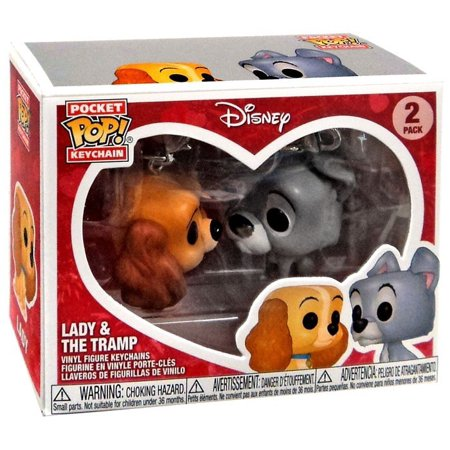 Lady and the Tramp Disney Funko Pocket Pop! Keychain 2-Pack - Disney Keychains