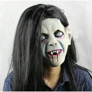 Latex Sadako Vampire Ghost Scary Mask Cosplay Horror Fancy Dress Party Costume Prop