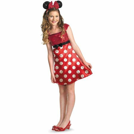Disney Mickey Mouse Clubhouse Red Minnie Mouse Child Halloween Costume - Adult Mickey Mouse Halloween Costume