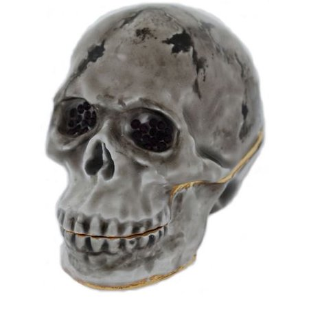 Halloween Bejeweled Online Game (Human Skull Bejeweled Crystal Enameled Halloween Jewelery Trinket)